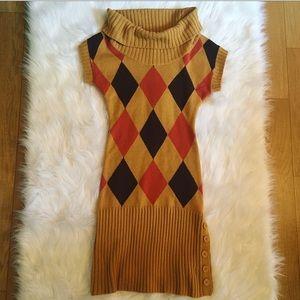 Cozy Mustard Sweater Dress